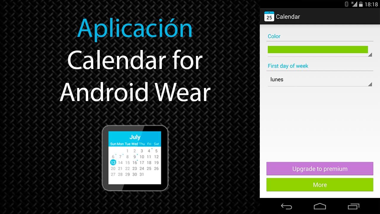 Yput Youtube: [Aplicación] Calendar For Android Wear