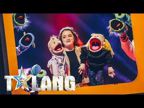 Stephanie och Cecilia lockar till skratt i Talang 2018 - Talang (TV4)