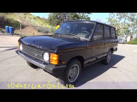 Land Rover Range Rover County 4x4 SUV Luxury Sport First Generation 1990 3.9L V8 Offroad Vehicle