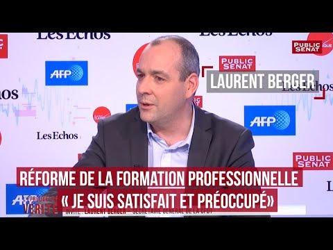 """Réforme de la formation professionnelle : Laurent Berger """"satisfait et préoccupé"""""""