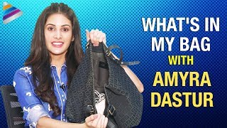 What's In My Bag With Amyra Dastur | Amyra Dastur Funny Interview | Telugu FilmNagar