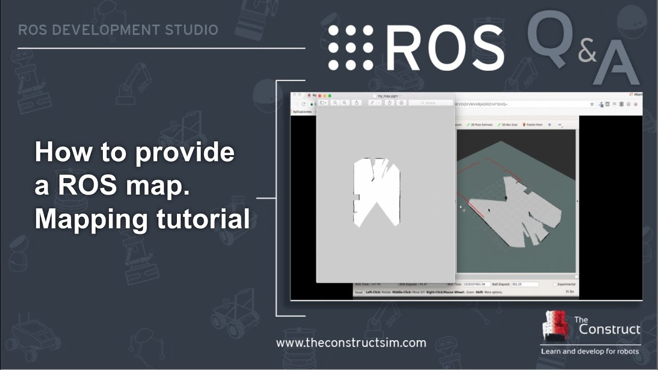 [ROS Q&A] 119 - ROS Mapping Tutorial  How To Provide a Map