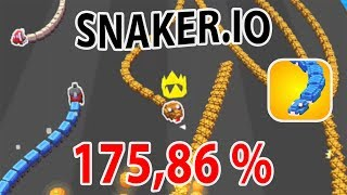 SNAKER.IO GAMEPLAY | NEW RECORD (175,86 %)