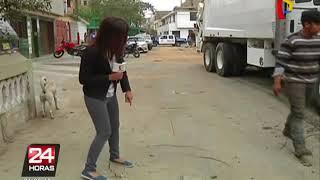 Vecinos denuncian pistas mal construidas en distritos limeños