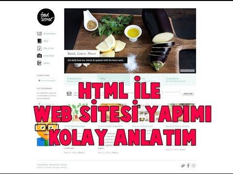 Html ile Web Sitesi Yapımı Kolay Anlatım - Web Tasarım Dersleri 2