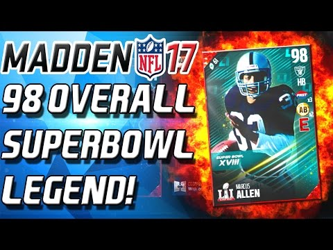 Madden 17 Ultimate Team - 98 OVERALL MARCUS ALLEN! HOW TO GET FREE SUPERBOWL PLAYER