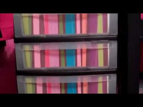How To Decorate Plastic Storage Containers Youtube