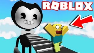 Omg!!! BENDY CHASES & KILLS ME IN ROBLOX!!!