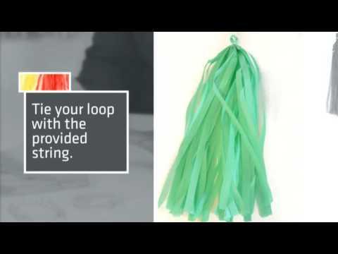 Tissue Tassel Garland DIY 480p