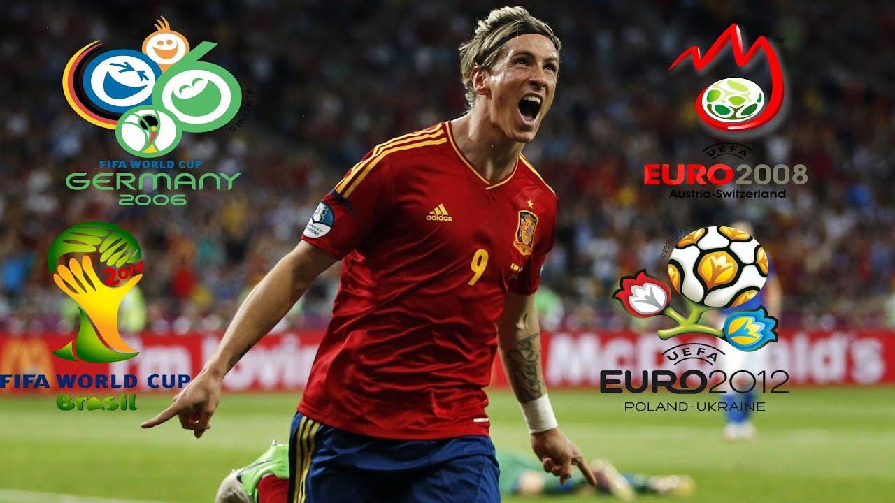 Fernando Torres ○ All Spain 9 Goals in Major Tournaments ○ 2006