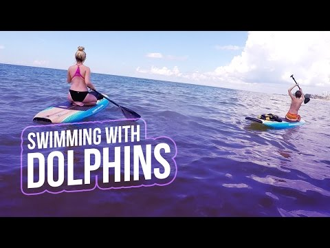 SWIMMING WITH DOLPHINS | Baby Ariel