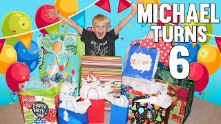 Birthday Morning Present Opening! Michael Turns 6!!