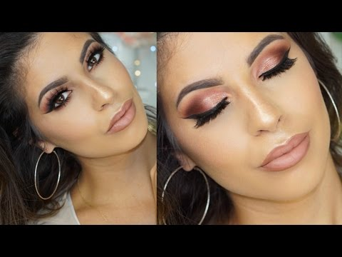 Dramatic Cranberry  Smokey Eyes Makeup Tutorial 2016