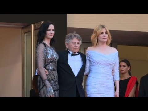 Roman Polanski, Eva Green on the red carpet at Cannes