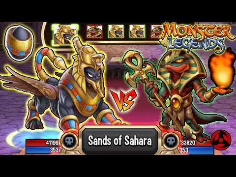 🔴Monster Legends: DUNN RA level 130 vs Viperhotep 130 Bandses 130 review combat