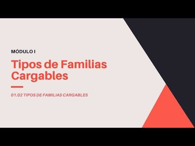 Familias en Revit 2020 | 02 Tipos de Familias Cargables en Revit