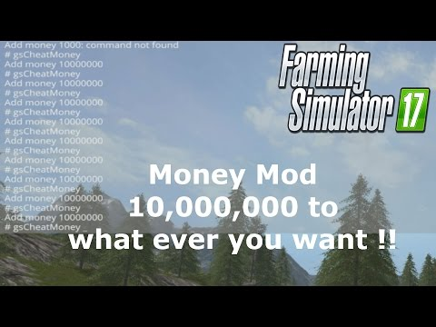 How to use the money cheat mod, Give yourself 10,000,000 at a time