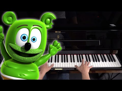 How to play The Gummy Bear Song on Piano - Piano Tutorial