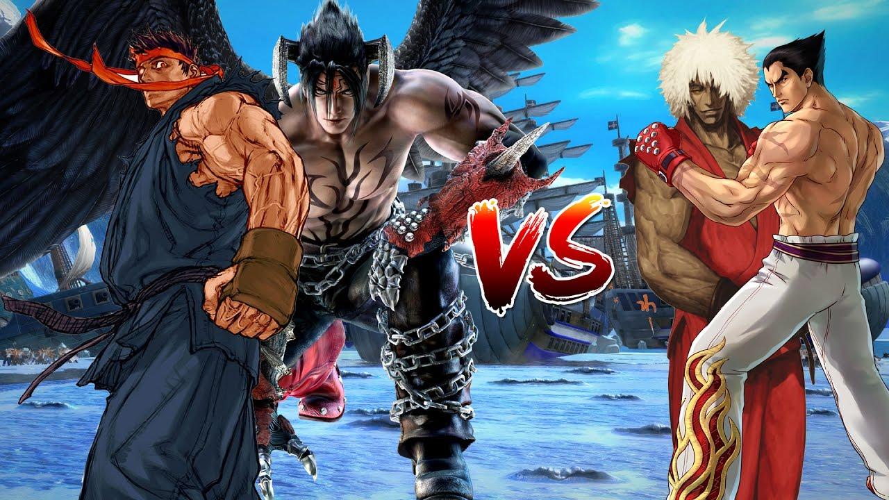 evil ryu and devil jin vs evil ken and kazuya mishima mugen epic
