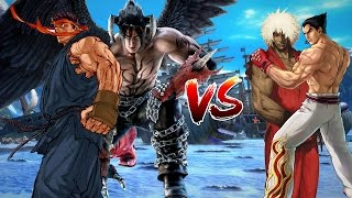 Evil ryu and Devil jin vs Evil ken and kazuya mishima Mugen Epic Battles