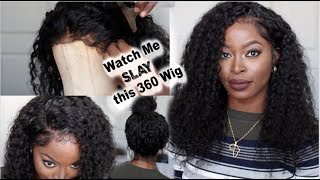Watch Me SLAY This 360 WATER WAVE Wig| Melt The Lace| Define the Curls: Ywigs