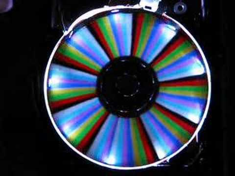 LED Hard Drive Clock Demo - Видео