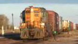GP9 getting a workout kicking cars. (It is a GP9 folks)