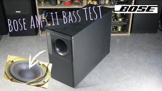 1990 Bose AM5 II Subwoofer Bass Test | Vintage woofer tested at MAX volume !