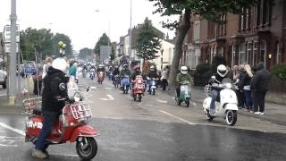 Cleethorpes scooter rally ride in 2014