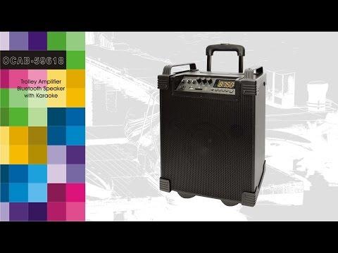 OCAB-59618 (Trolley Amplifier Bluetooth Speaker with Karaoke)