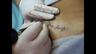 Tattoo scris tatuaj text tatuaj coapse Zarescu Dan http://www.machiajtatuaj.ro