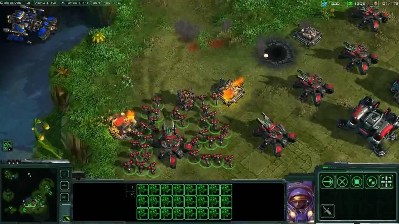 Starcraft Ii Terran Gameplay Youtube