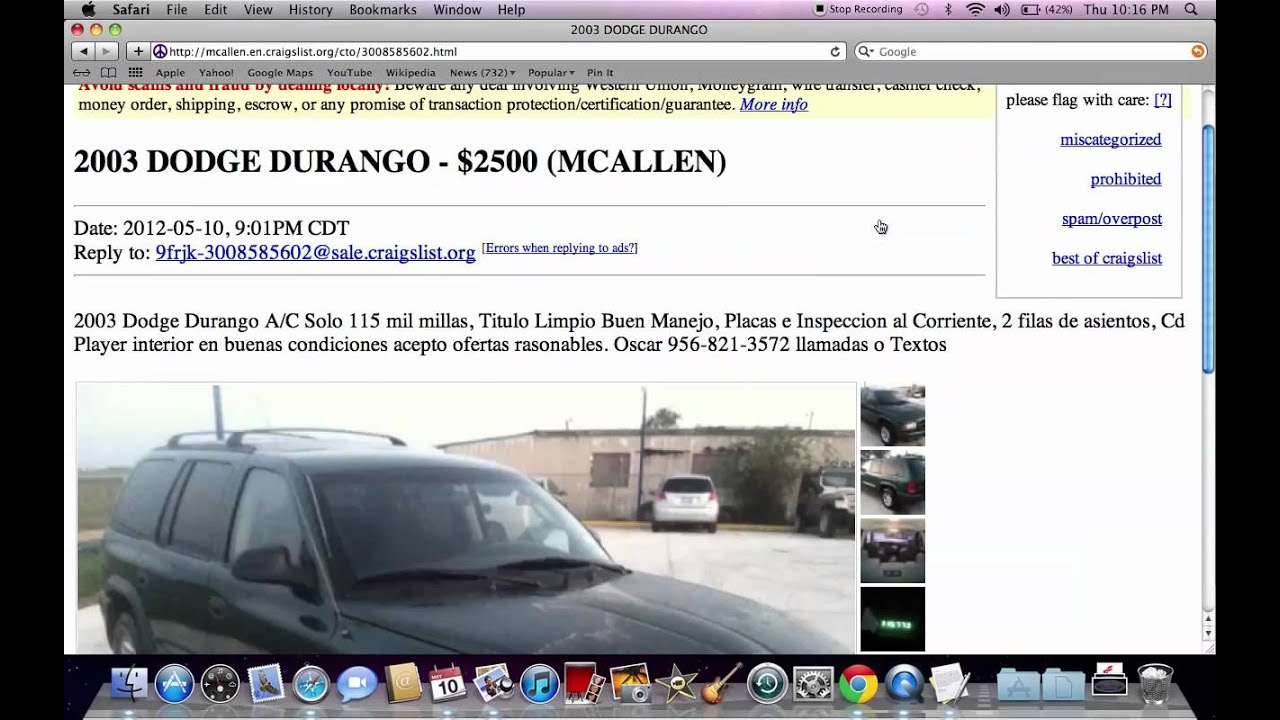Craigslist mcallen texas used ford and chevy trucks under 3000 available in 2012 youtube