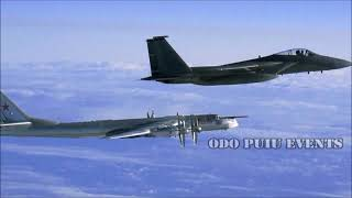 Us F-22 Intercepts Russian Tu-95 Bombers And Su-35 Fighter Jets Off Alaskan Coast