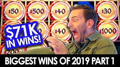 💸 BIGGEST WINS OF 2019 🌟 $71,000 in JACKPOTS and MORE! 🎰 Part 1 of 3
