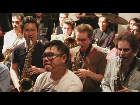 Tyshawn Sorey conducting Banff/NYC Improvisers Orchestra - at The Stone - July 8 2016