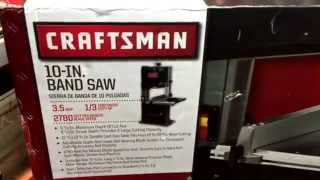 Craftsman 10 Inch Band Saw Unboxing And Assembly  Bought From Sears 1/3 Hp 3.5 Amp. Mr Tims