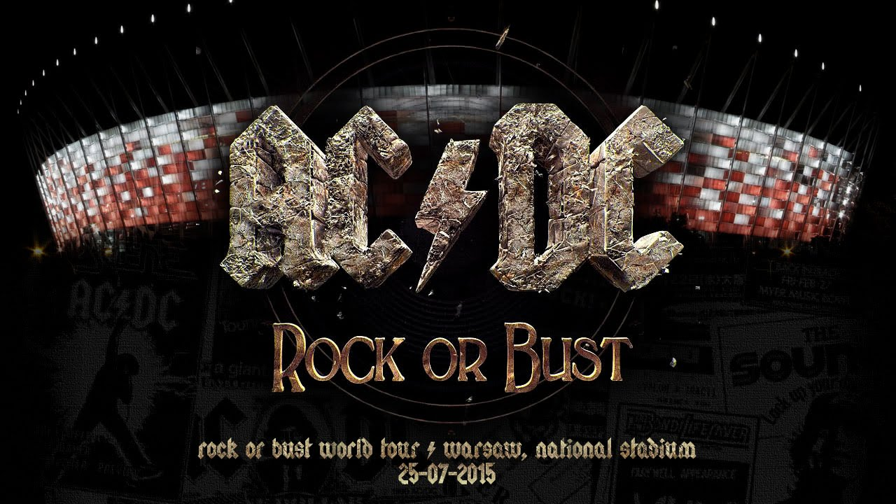 ac dc rock or bust world tour in warsaw poland youtube. Black Bedroom Furniture Sets. Home Design Ideas