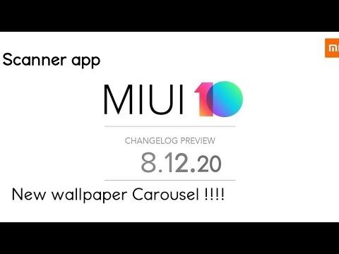 Miui 10 Global Beta 8 12 20 Review New Wallpaper Carousel Youtube