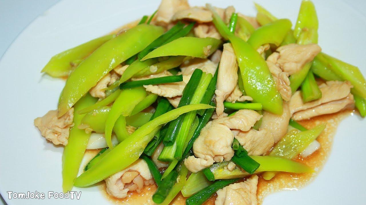 ไก่ผัดพริกหยวก ง่ายๆได้ประโยชน์แถมอร่อยด้วย Chicken with Banana Pepper