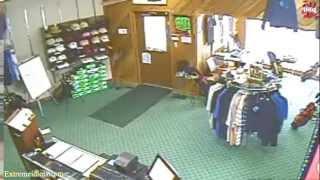 Man Falls through Department Store Ceiling!!!