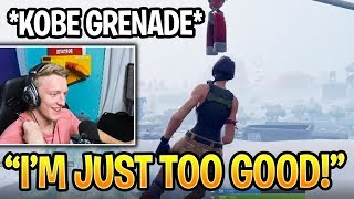 TFUE Could Not Believe He Killed A Player With A Kobe Nade off The Zipline! Fortnite Daily Moments
