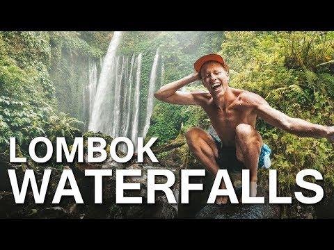 NORTH LOMBOK'S AMAZING WATERFALLS w LOCATION   VLOG 48
