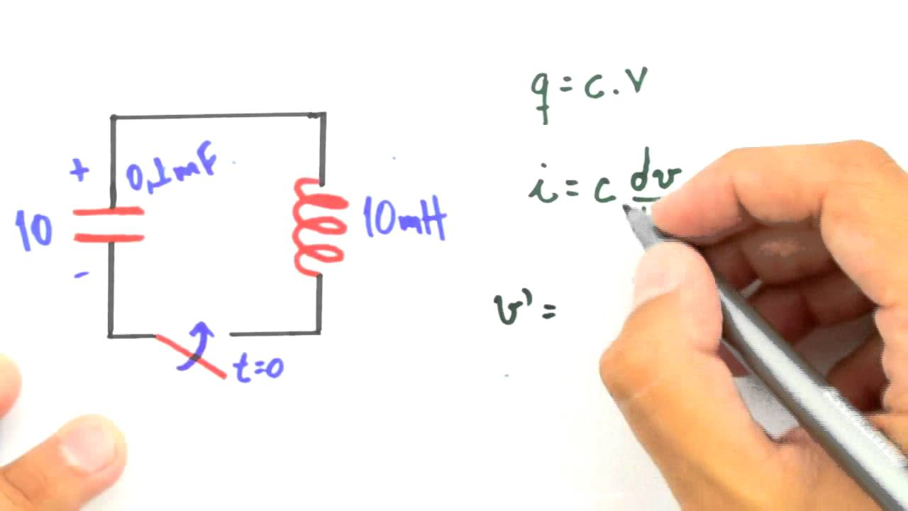 Circuito Lc : Me salva rlc circuito lc exemplo i youtube