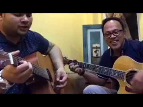 Noel Cabangon & Davey Langit sings I wont give up Jason Mraz Cover