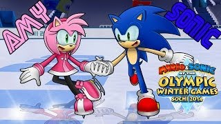 M & S 2014 Sochi Winter Olympic Games Sonic & Amy *Figure Skating Pair*