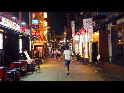 walking-itaewon-backstreet-alleys-at-midnight│seoul-in-korea│4k-60fps-pov