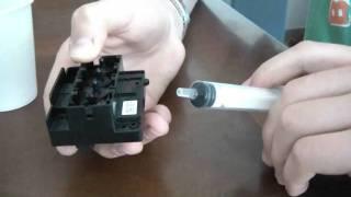 tutorial come recuperare stampante con cartucce e testina secca metodo 1