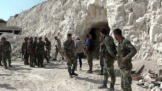 В районе сирийского города Хан-Шейхун обнаружено тайное убежище боевиков.