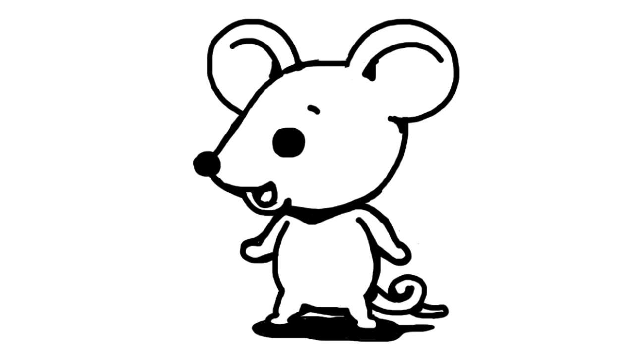 ネズミのイラストの描き方